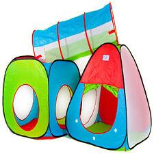 Spiel Zelt Kinderzelt Spielzelt mit Tunnel - 3-Teilen - Kinderhaus