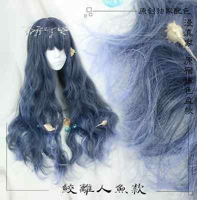 Wig Cospaly Daily Curly Princess Japanese Sweet Lolita Harajuku Goddess Gradient
