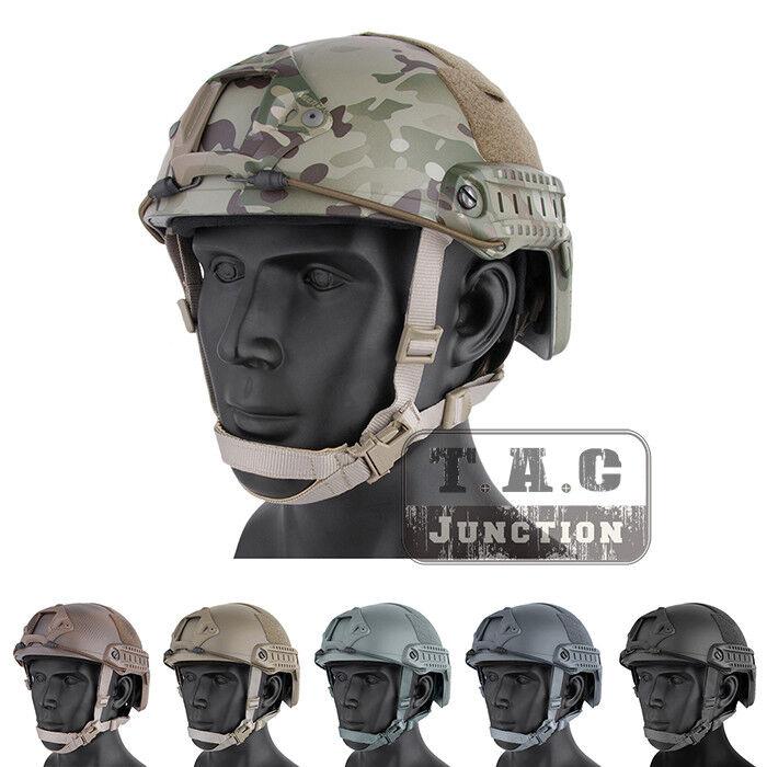 Emerson Tactical Fast Helmet MICH Ballistic Type Advanced w   NVG shroud + Rails  no tax