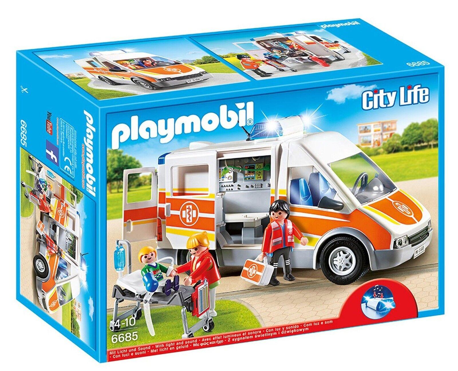 PLAYMOBIL 6685 città Life OSPEDALE PEDIATRICO Ambulanza  con Luci e Suoni  marchi di moda
