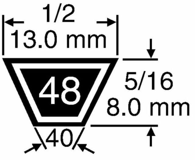 BBT - VB 37x61 Cinghia trattorino rasaerba tagliaerba MURRAY 37x61-710531
