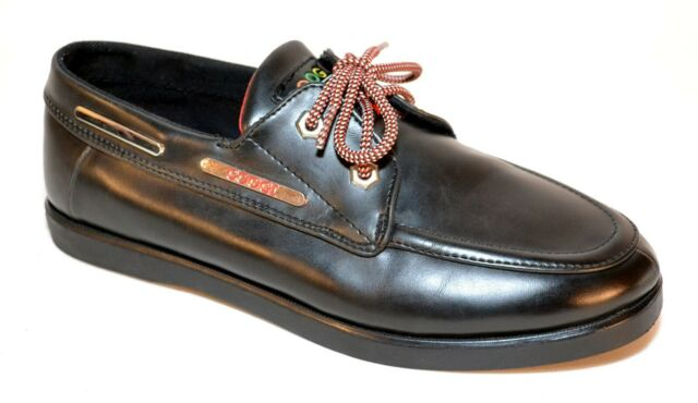 Leather MOC Toe Boat Shoes Mens Size