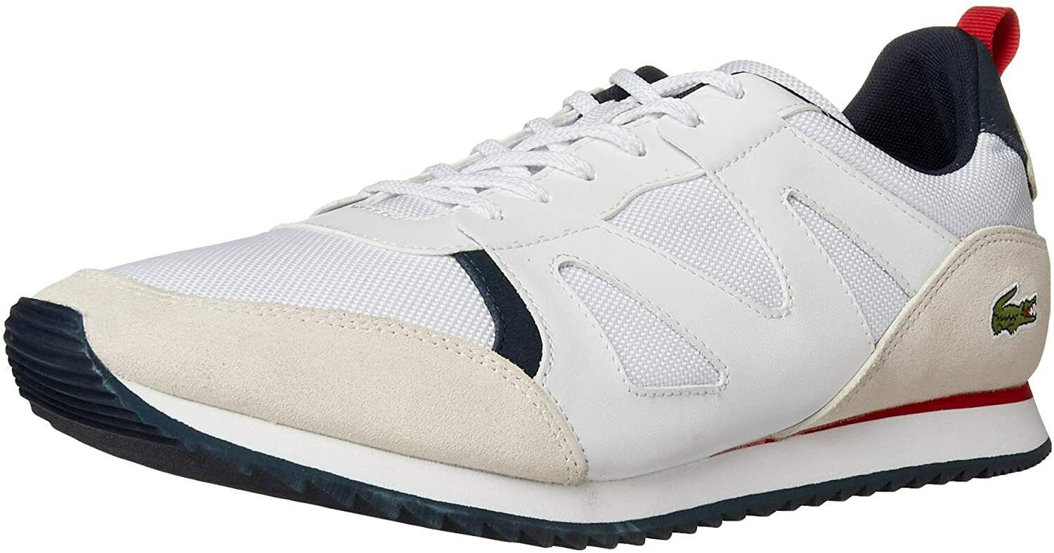 LACOSTE AESTHET 120 2 SMA Sneakers White / Navy / Red New