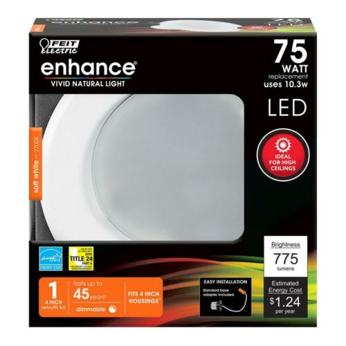Feit 4 in 75W Equivalent Dimmable CEC Title 24 White Integrated LED Recessed