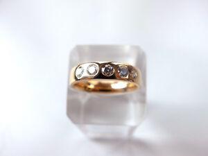Damenring-besetzt-mit-5-Brillanten-von-zus-ca-0-40-ct-in-585-Gelbgold