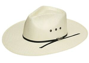 37164599 Details about CASUAL Cowboy HAT -Fedora Western Indiana- Natural Straw -  3.5