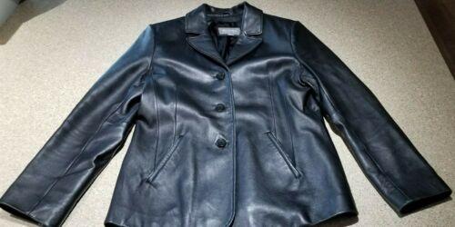 Størrelse Wilsons Heavy Coat L Kvinder 3 Black Læder Button Fq6wxaq0r