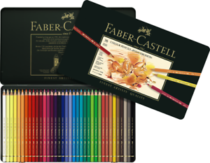 #110036 Gift Tin of 36 Faber-Castell Polychromos Artists/' Art Colour Pencils New