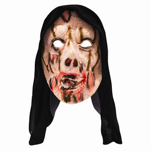 Halloween-Ghoul-SPAVENTOSO-Bloody-con-cappuccio-Maschera-Horror-Monster-Costume