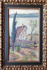 """Rina SOLDO (Chiari 1899 - Salò 1982) """"casa dell'artista"""" Olio su tavola Brescia"""