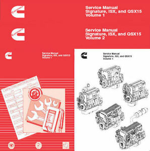 cummins signature isx and qsx15 shop service manual engine repair rh ebay com sg cummins isx operator's manual cummins isx parts manual