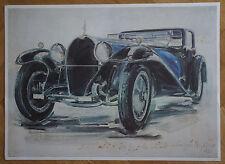"""MARCEL RECHER (1926/16) -    """" BUGATTI ROYALE 1928 """" N° 51/250 - Signé"""