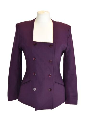 100 Purple 10 38 Us Uk Eu 6 Whistles Giacca lana E5pRRq