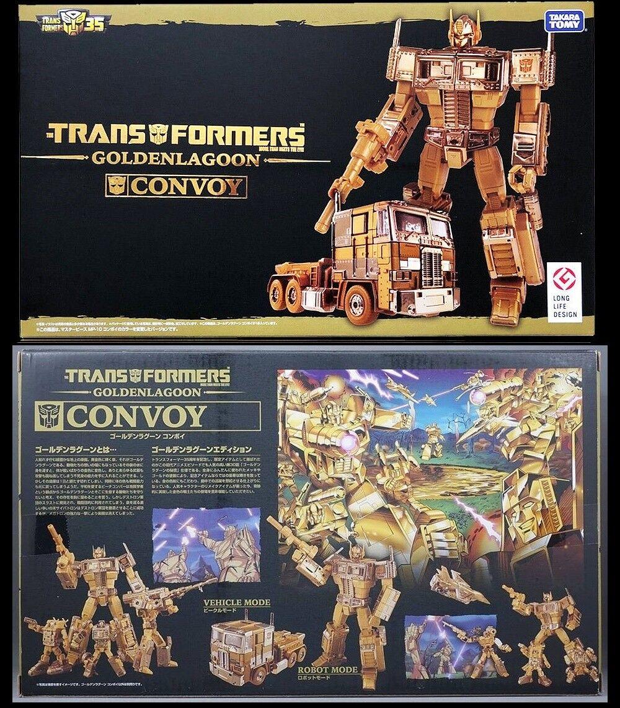 Takara Transformers MP-10G 35th Dorado Aniversario Laguna Optimus Prime En Mano