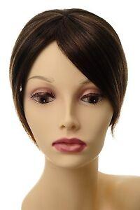 Toupet-Haarteil-Haarersatz-Aufsatz-Haarauffueller-Clip-In-Braun-Mix-L008-2T30