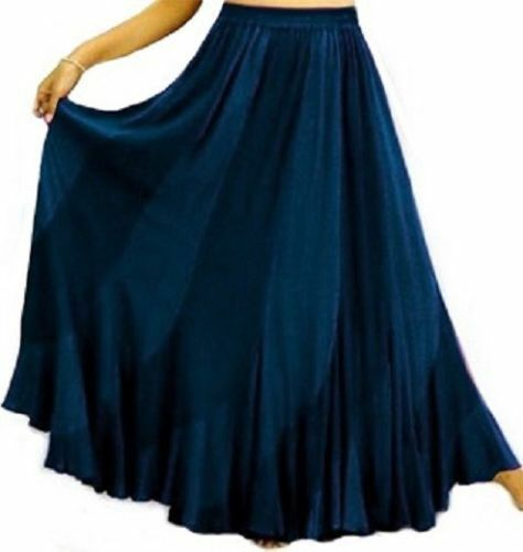 Navy bluee maxi sexy ruffled skirt boho plus 2X 3X 4X 2 toned