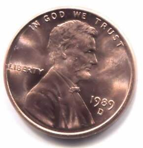 Details about U S  1989 D Lincoln Memorial Uncirculated Penny - One Cent  Coin - Denver Mint