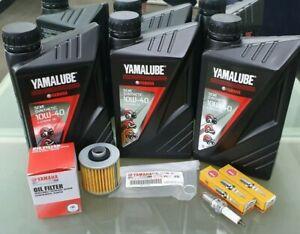 Yamaha-XVS650-V-Star-650-Service-Kit-Filter-4X7-13440-plugs-DPR7EA-Yamalube-oil