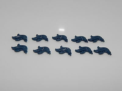 Lego Minifigure Lot Of 10 Dark Blue Plume Feathers