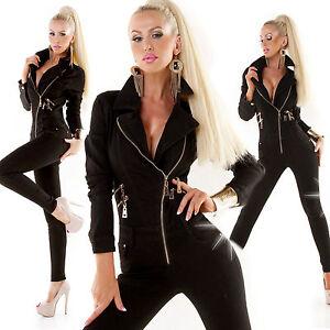overall-tuta-donna-elast-taglio-chiodo-zip-skinny-nero-tg-XS-S-M-L-XL
