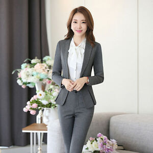 2018 Elegant Women Suits Blazers Pant Sets Women Office Dress Skirt