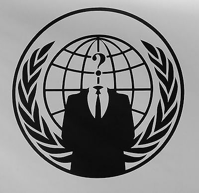 Anonymous Globe Question Mark Vinyl Decal Sticker for Car,Truck,Laptop,Window