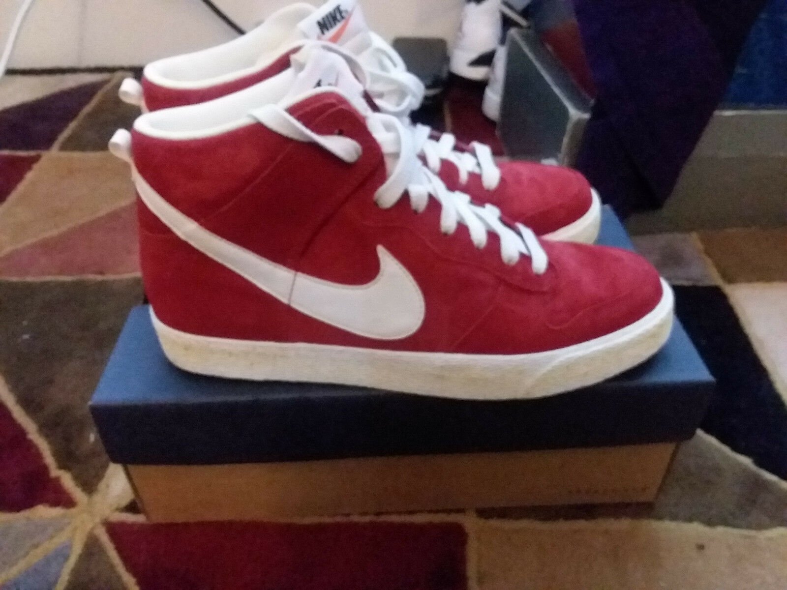 Nike Dunk High AC Varsity Red Suede Sail QS size 9.5 398263-601