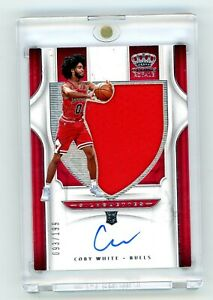 2019-20-Panini-Crown-Royale-Coby-White-ROOKIE-Silhouettes-Auto-Jersey-199-Bulls