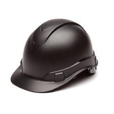 Pyramex Hp44117 Ridgeline Graphite Cap Style Black Hard Hat With4 Pt Ratchet Susp