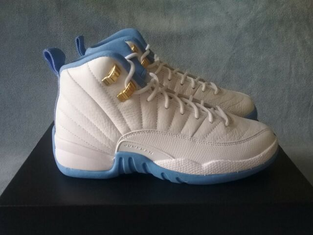 timeless design 9d1a2 f48fa Size 5 Youth Nike Air Jordan 12 Retro GG White/blue 510815 127