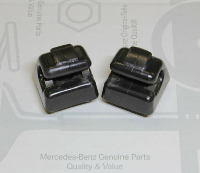 Mercedes-Benz W123 W124 W126 W201 Sun Visor Clip - Set of 2 - Black