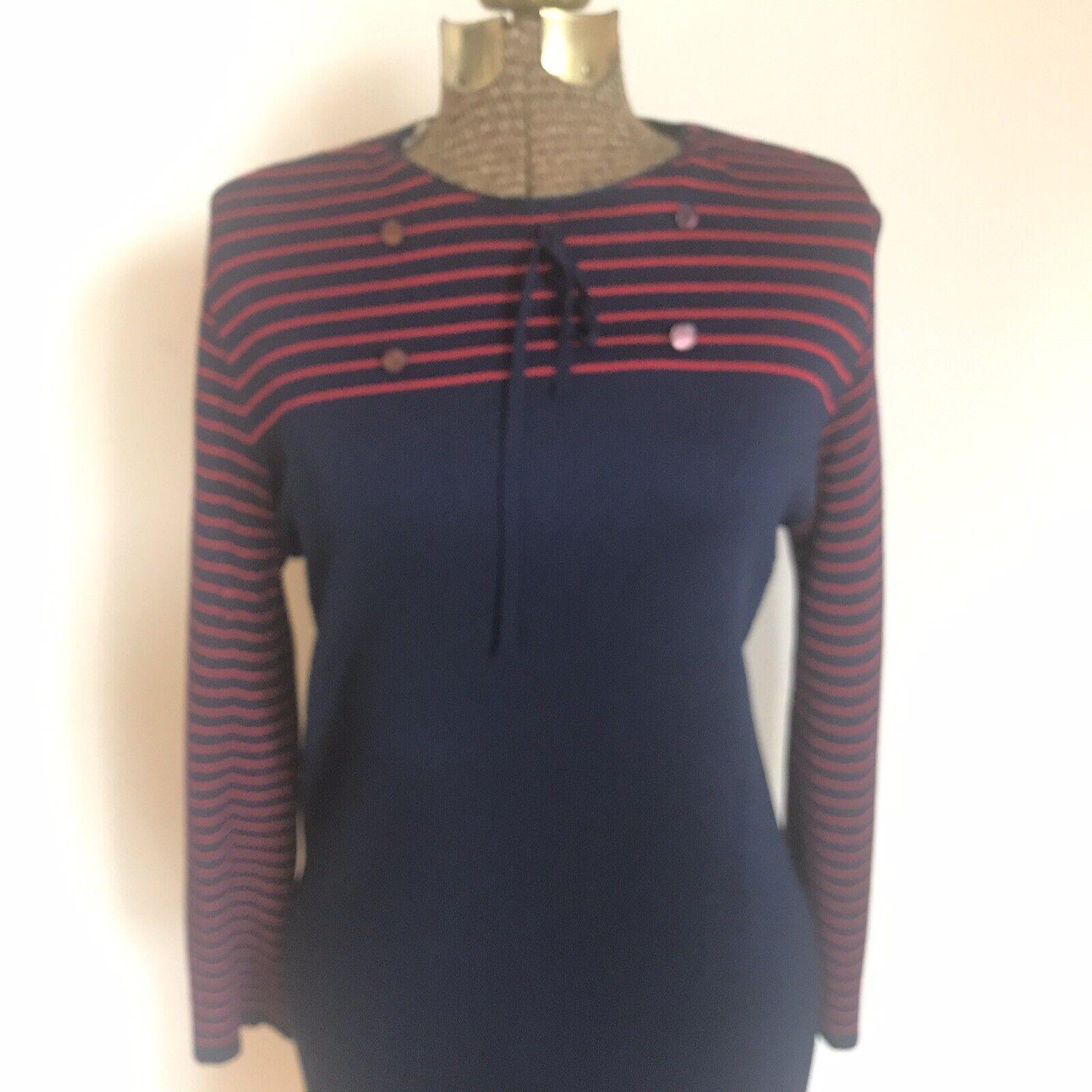 Vintage Helen Whiting coat navy long sleeve 1950/'s petite medium petite small