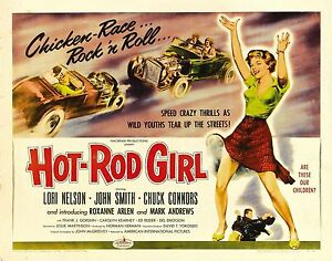 Hot-Rod-Bambina-Film-DVD-Trasferimento-Trascinamento-Gara-da-Corsa-1956-Teenage