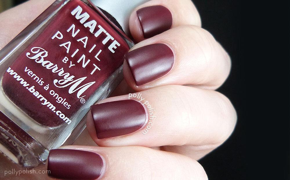 Barry M Nail Paint Polish Varnish & Professional File Matte 2 Crush ...