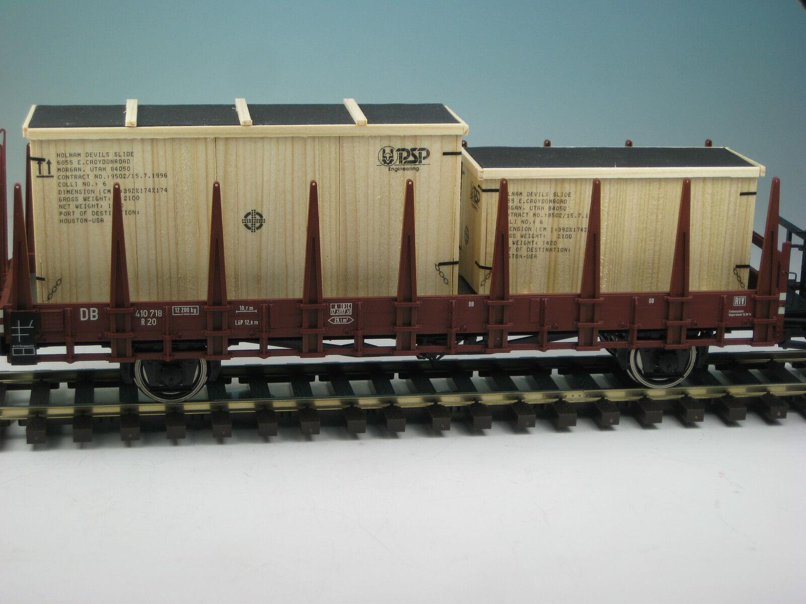 DUHA 18284 - 2 Transportkisten  PSP  - Handarbeit im Maßstab 1 43   Spur 0