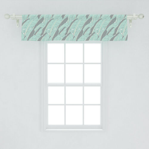 Ambesonne Boho Design Window Valance Curtain for Kitchen Bedroom in 2 Sizes