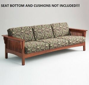 Image Is Loading HONEY OAK SOLID MISSION COUCH BY ADDEN FURNITURE