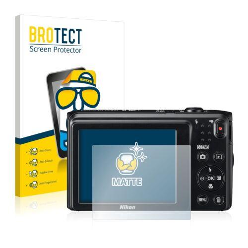 2x protector de pantalla mate Nikon Coolpix a300 lámina protectora protector de pantalla Lámina