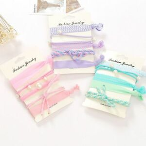 Band-Hot-Summer-Accessories-Ponytail-Holder-Hairbands-5-PCS-pack-Elastic