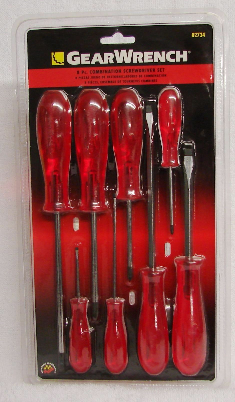 Gearwrench (8) piece Combination Screwdriver Set