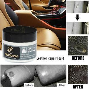 Leather Vinyl Repair Filler Compound Cream Leather Restoration Cracks Sofa Hole~