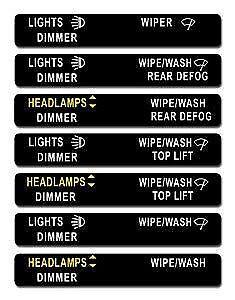 70-74-E-Body-Headlight-Switch-Panel-Decal-NON-RALLYE