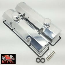 Small Block Chevy Polished Fabricated Aluminum Valve Covers Sbc 350 400 Gaskets