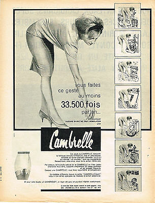 Logical Publicite Advertising 034 1960 Cambrelle Gaine Sous Vetements Relieving Rheumatism Collectibles
