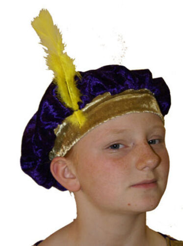 PURPLE /& GOLD CHILDS MEDIEVAL//TUDOR STYLE HAT Great Fancy Dress Accessory