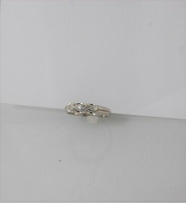 5812 Mens 10k white gold multistone diamond ring