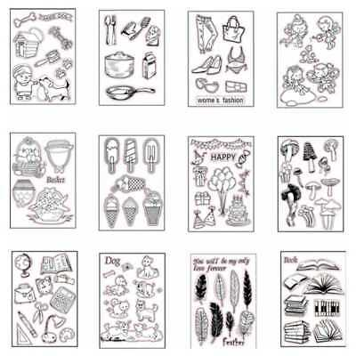 Diy Transparent Silicone Clear Stamp Seal Album Decor Cling Scrapbook Embossing