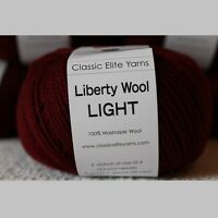 Classic Elite Yarns 6627 Liberty Wool Light, Wine, 100% Wool