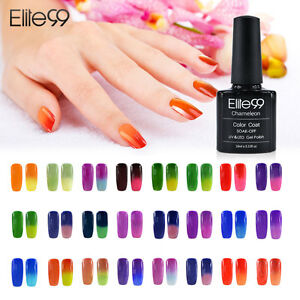 Temperature Change Color Soak Off Nail Art UV Gel Polish Glitters ...