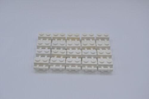 stick 30236 4140626 LEGO 20 x Stein 1x2 Griff weiß white brick w